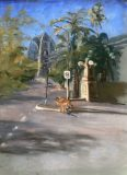 Rufus at the Rocks. Sidney. Pastel
