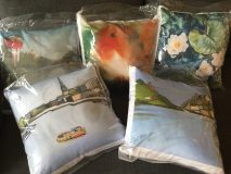Beautiful silky cushions.